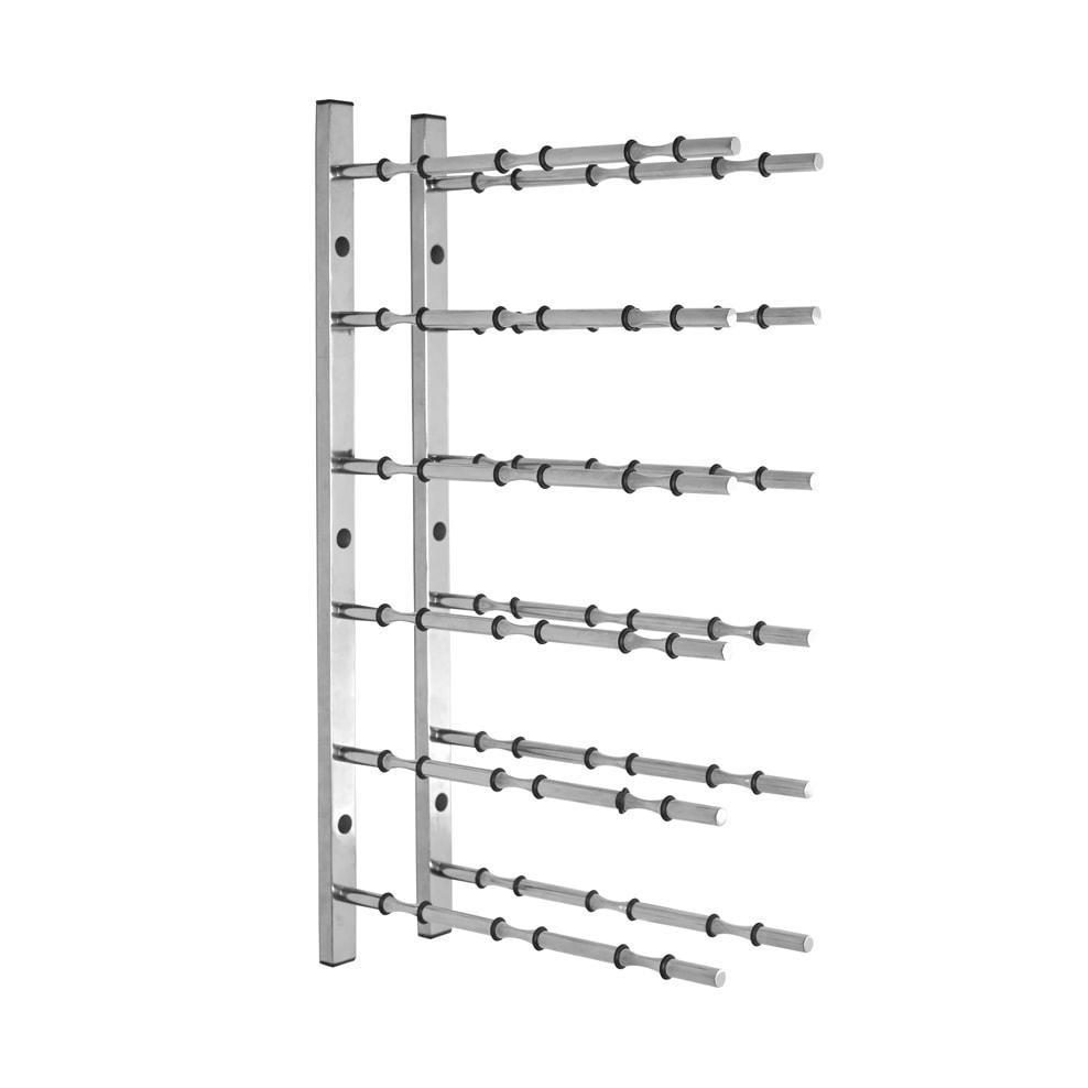 2 ft Wall Rails Metal Wine Rack 3 Bottle (Chrome)