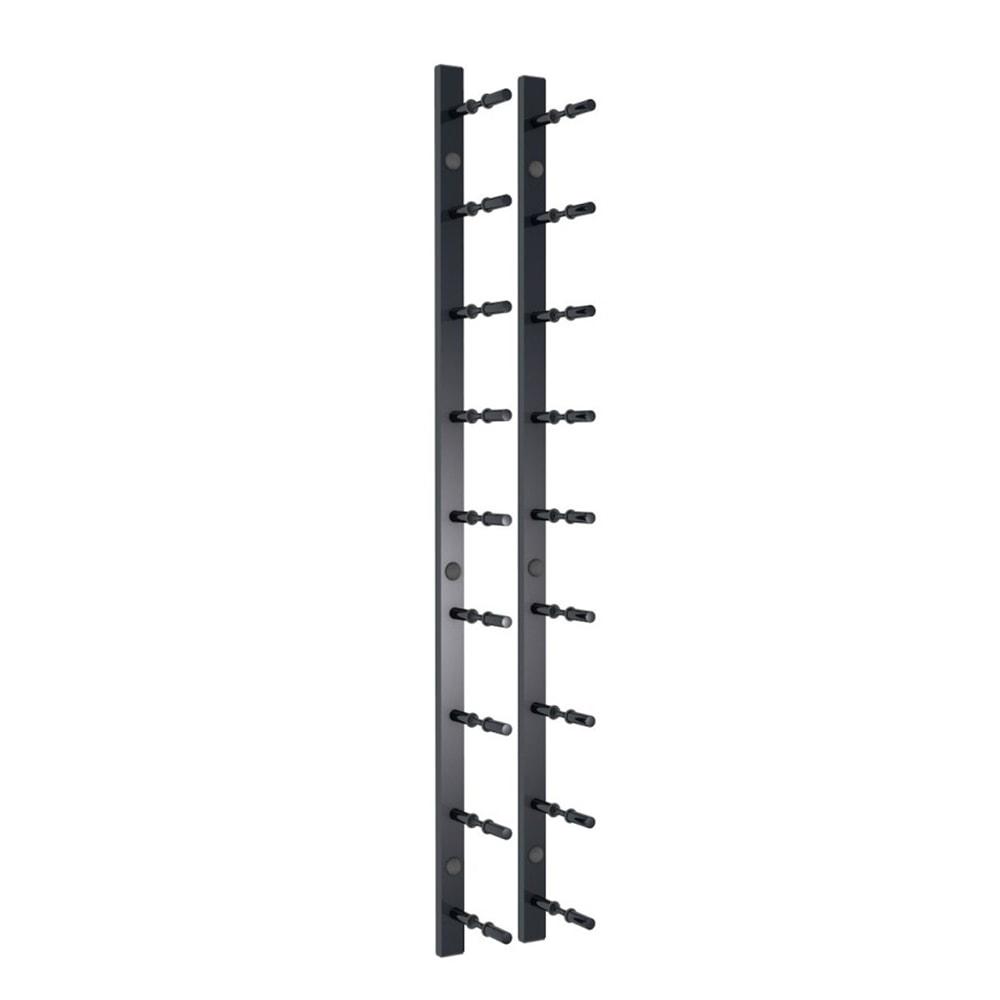 3 ft Wall Rails Metal Wine Rack 1 Bottle (Black)