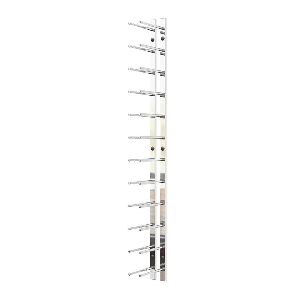 4 ft Wall Rails Metal Wine Rack 12 Bottle